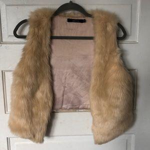 Ark & Co fur vest